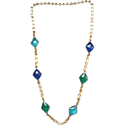REDUCED SCARCE 1920's Art Deco French Gripoix Gilt Sautoir Necklace