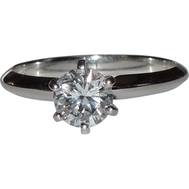 14K White Gold .74 Carat Colorless Diamond Engagement Ring ~ $5,000 Diamond ~ Size 6 ~ Layaway Available