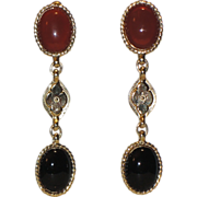 REDUCED Accessocraft N.Y.C. Runway Etruscan Revival Drop Earrings ~ RARE