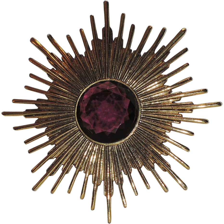 Accessocraft N.Y.C. 1960's Atomic Starburst Pin/Pendant