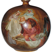Doulton Burslem Turn of the Century Merry Wives of Windsor Spherical Vase ~ W. Nunn Artist Signed ~ VERY RARE