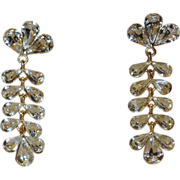 Napier 1980's Crystal Chandelier Earrings ~ Book Piece