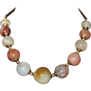 SALE 1970's Agate Chunky Stone Necklace