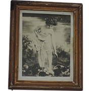 REDUCED Early 1900's Skinny Dip Erotica Framed Photograph