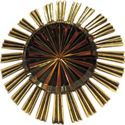 RARE Jeanne 1960's Atomic Space Age Starburst Brooch