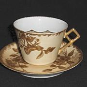Porcelain Mustache Cup & Saucer
