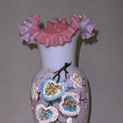 REDUCED Victorian Opaline Glass Vase