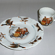 Circa 1900 Porcelain Cup & Plate Set