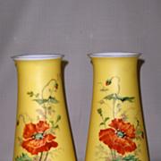 SALE Pair of Antique Glass Vases