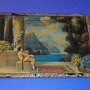 Vintage Art Deco Print Woman Lake Advertising 1920's Parrish Fox