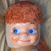 Vintage 50's Rushton Era Daniel Boone Davy Crockett Doll Coon skin Hat BIG