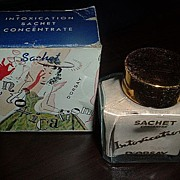 Vintage Estate D'ORSAY Intoxication Sachet Vanity Scent Original Box and Full