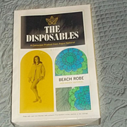 True Vintage 60's Paper Beach Swimsuit Cover Robe RARE Mod Old stock new in box