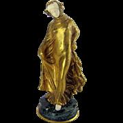 Art Nouveau Gilt Bronze Woman Statue