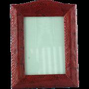 Vintage Red Snakeskin Photograph Picture Frame
