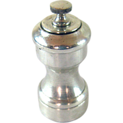 Sterling Silver Pepper Grinder Mill -  American c. 1950