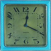 Art Deco Guilloche Enamel Tiffany Clock