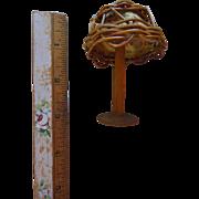 Vintage Wicker Dollhouse Miniature Doll Lamp