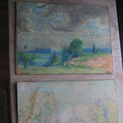 2 Impressionistic Frederick Mortimer Lamb American Art