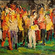 Paulette Van Roekens    Crowd in the Park
