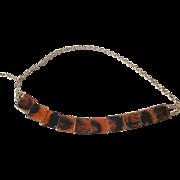 Rootbeer Lucite Belt Vintage 1960s Mod Chain Link Adjustable Accessory