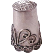 Mexico Sterling Thimble Vintage Sewing Tool