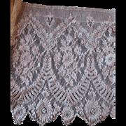 Wide Antique Net Lace Trim 2 Yards 12 Inch Width
