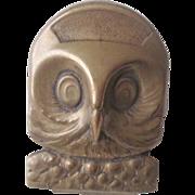 Antique German Owl Clip Brass Figural Office Desk