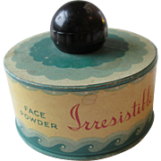 Face Powder Vintage 1930s Irresistible Fifth Avenue New York Advertising Knob
