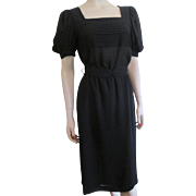 Little Black Dress Vintage 1960s Womens Sheer Nylon Belt Designer Ferrali by Phillipe