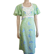 Lilly Pulitzer Butterfly Dress Vintage 1970's Designer Clothing