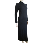 REDUCED Sweater Dress Black Bombshell Vintage 1980's Nina Leonard XS