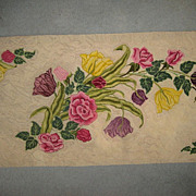 """Stunning 1930's Hand Hooked Floral Rug - 78""""L X 32"""" W"""