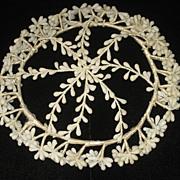 Vintage Round Wax Wedding Tiara Crown/Cap