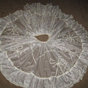 "1940's Creamy White Nylon & Lace Wedding Under Slip/Skirt-29"" Waist"