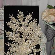 C. 1930's Wax Wedding Bouquet with Three Spun Glass Flowers