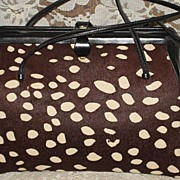 Vintage 1960's Judith Leiber Spotted Calfskin Purse