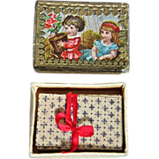 Wonderful Antique Miniature Playing Cards with Box