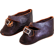 Marvelous Antique French Bebe Shoes Marked C.M.