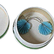 Delicate Antique French Doll Earrings with Box