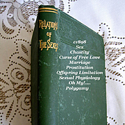 1898 Relations of the Sexes Book Duffey Marriage Sex Prostitution Polygamy Offspring Limitation Birth Control