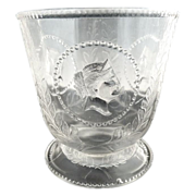 EAPG antique glass sugar Medallion Atterbury