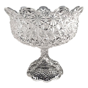 Antique glass compote Daisy & Button Gillinder Glass c. 1890s