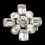 Vintage rhinestone brooch  Austrian crystals 1940s