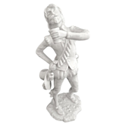 German porcelain figurine Mercenary Soldier with Beer Alboth & Kaiser by G. Bochmann
