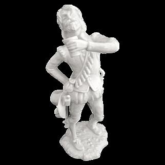 German porcelain figurine Mercenary Soldier with Beer Alboth & Kaiser by G. Bochmann