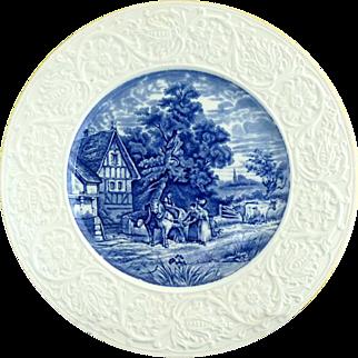 Pastoral Coalport plate embossed porcelain