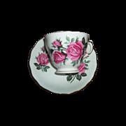 Pink Rose Floral Motif  Royal Vale Tea Cup Saucer Set
