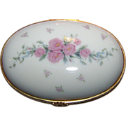 Pink Rose Floral Hinged Lenox Trinket Box