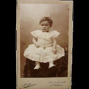 Charming Carte de Visite CDV  Little Girl Lace Dress